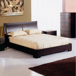 """Hokku Designs - Maya Platform Bed - Features: -Curved headboard.-Platform slats system for mattress support.-Sunken mattress placement.-Offers excellent workmanship in a contemporary package.-Solid wood and veneer construction on medium density fiberboard.-Espresso finish.-Maya collection.-Please note: Optional Serta Mattress and box spring ships separately from bedroom furniture, and may arrive for delivery on an earlier or later date than bedroom furniture.-Distressed: No.-Collection: Maya.Dimensions: -Queen size dimensions: 38"""" H x 59"""" W x 82"""" D.-King size dimensions: 38"""" H x 65"""" W x 87"""" D.-Overall Product Weight: 76 lbs.Warranty: -One year warranty."""