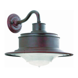 Troy Lighting B9391 South Street 1 Light Outdoor Wall Light - I like the way that this light is kinda barnhouse, kinda citified. It's a cool industrial mix that will add character and vintage style to your exterior.