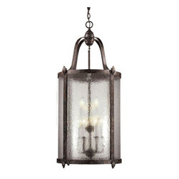World Imports - Old Sturbridge 9-Light Indoor-Outdoor Hanging Lantern, Bronze - Bronze finish