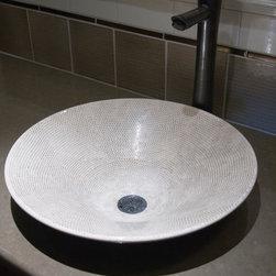 Transitional Beauty - Quartz top with vessel sink please guest.
