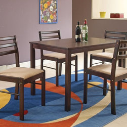 5-Piece Park wood Dining Table Set in Cappucino - Can't describe the feel it brings, love simple goods.
