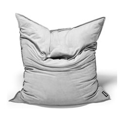 Jaxx Bean Bags - Jaxx Sleep Saxx, Pewter - For those spontaneous sleepovers, late afternoon naps or just getting cozy in front of a movie, the Sleep Saxx has you covered. Part bean bag, part futon, the Sleep Saxx features a hidden foam-filled crash pad that gives your guests a plush place to snooze. Simply unzip the velvet twill cover to reveal the inner natural twill liner that will unfold to the size of a queen size mattress. When not being used for lounging, the Sleep Saxx serves as cozy bean bag for one adult or two kids, offering three comfortable configurations. Laid flat, it resembles a giant pillow, giving you a cozy place to curl up. When propped up against the wall, it acts as a supportive chair and provides the perfect platform for reading and relaxing. And, when turned on its side, the Sleep Saxx cocoons you in comfort that is perfect for watching TV. The removable velvet twill top cover is machine-washable and features decorative stitching across the top and is available in five gorgeous colors.