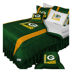 Store51 LLC - NFL Green Bay Packers Football Team 4 Piece Twin Bedding Set - Features: