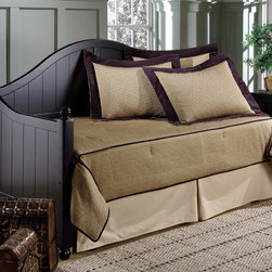 Hillsdale - Augusta Daybed - The charming appeal of cottage styling meets the trendy uptown finish in this Augusta daybed. A beachboard design meets a gracefully arched silhouette,and interesting sloped arm,and the posts are topped with a classic round finial.