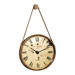 Bassett Mirror - Bassett MC2666EC Mirror Watchman Clock - Bassett Mirror Watchman Clock MC2666EC