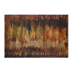 Uttermost - Uttermost Misty Views Hand Painted 60x40 Wall Art - Vibrant, earth tone colors are used to create this abstract, hand painted artwork on canvas. The canvas is stretched and mounted on a hardback frame. Due to the handcrafted nature of this artwork, each piece may have subtle differences.