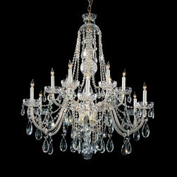 Crystorama Lighting Group - Traditional Crystal Swarovski Strass Crystal Polished Brass Six-Light Chandelier - Traditional crystal chandeliers are classic timeless and elegant. Crystorama's opulent glass arm chandeliers are nothing short of spectacular. This collection is offered in a variety of crystal grades to fit any budget. For a touch of class order this collection in Gold for traditionalists or in Chrome to match your contemporary or transitional decor.  -Primary Material: Steel  -Crystal: Swarovski Strass  -Chain or Rod Length: 72inches  -Wire Length: 120inches Crystorama Lighting Group - 1112-PB-CL-S