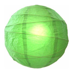 """Oriental-Decor - Harmonious Green Globe Lantern, 16"""" - Green is one of the most harmonious colors in nature. In the ancient art of feng shui, it is a wood element color and represents fresh energy, renewal and rebirth. Green is known for reducing stress in people and also makes for wonderful decor. Use this green Chinese lantern for creating a soothing and beautiful decorative look in any room."""