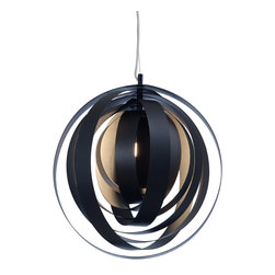 Nuevo Living - Orba Pendant Lamp, Black - Nothing transforms a space quite like bold lighting. The modern circular elements of this pendant add visual interest and style unlike any other traditional chandelier. Imagine it filling your dining room with streams of playful light and sophisticated decor.