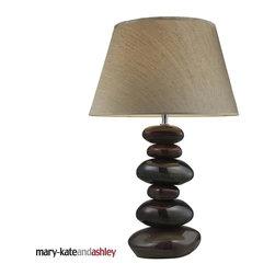 Dimond Lighting - 3950-1 Elemis Table Lamp, Natural Stone - Modern Contemporary Table Lamp in Natural Stone from the Elemis Collection by Dimond Lighting.