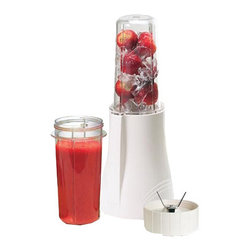 "TRIBEST CORP. - Tribest Personal Blender PB-150,21.7""W x 13.4""H x 15.8""D - Tribest Personal Blender PB-150 is a versatile and portable blender which delivers 200 watts of ice-crushing and smoothie-making power whenever plugged in. It is compact and smartly designed with high impact BPA free polycarbonate containers for blending, grinding or serving. It is capable of two function modes, one-touch pulse mode and press down mode for continuous blending or grinding operation."