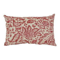 Pillow Perfect - Pillow Perfect Decorative Red and Tan Damask 18.5 x 11.5 in. Rectangle Toss Pill - Shop for Pillows from Hayneedle.com! Upgrade the look of your room in an instant with the Decorative Red/Tan Damask 18.5 x 11.5 in. Rectangular Toss Pillow. This handsome pillow has a natural tan background with distressed red damask pattern for a laid back elegant look. It's made with a cotton and polyester blend fabric cover filled with 100% virgin recycled polyester for a cushy feel. About Pillow PerfectPillow Perfect was founded by Paul and David Ratner two brothers with a passion for comfortable design stylish functionality and a commitment to pleasing their customers. With over 25 years in the business the founders of Pillow Perfect operate just North of Atlanta Georgia and have been producing products that add style and color to home and patios across the US. Keeping up with styles trends consumer needs and quality assurance makes them a major player in the industry. Their manufacturing facility brings all their ideas together and makes them a reality for customers all over the country and through drop-ship online retailers all over the world.