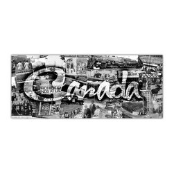 """READY2HANGART.COM - Ready2hangart Alexis Bueno Vintage B&W Canada Canvas Wall Art - Artist Alexis Bueno, takes you through the history of select cities and countries with his series Vintage Black & White. The abstract rendition in canvas art is offered as part of a limited """"Home Decor"""" line."""