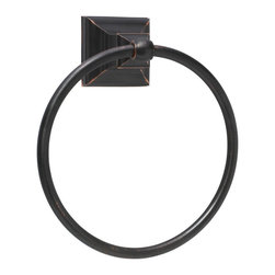Amerock - Amerock Markham Oil Rubbed Bronze Bath Towel Ring - Update your bathroom with this quality Amerock bath towel ring, featuring an oil rubbed bronze finish. The sophisticated Markham bath towel ring adds to any home's decor.