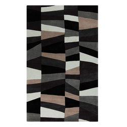 Surya - Surya Contemporary Cosmopolitan Black  Gray 8'x11' Rectangle Area Rug - Great contemporary designs with a bright color palette and a price in reach of every buyer. Hand tufted from poly-acrylic fibers  these rugs will not shed. Our Cosmopolotan Collection is a beautiful addition to any decor.