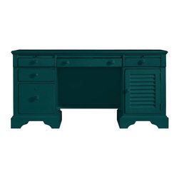 Stanley Furniture - Coastal Living Retreat-Computer File Desk - Give your home office coastal style with this breezy desk. Packed with useful features like dual pull-out writing surfaces, locking file storage, concealed power strip and four supply drawers.