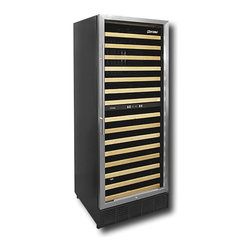 Vinotemp 160-Bottle Wine Cellar - This wine refrigerator is for the serious wine drinker. It has dual temperature control, so you can keep your reds and whites all lined up in one place. Holds up to 160 bottles.