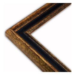 The Frame Guys - Narrow Manchester Black/Gold Picture Frame-Solid Wood, 5x5 - *Narrow Manchester Black/Gold Picture Frame-Solid Wood, 5x5