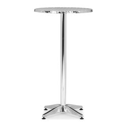 Zuo Modern - Zuo Modern Christabel Aluminum Bar Table - Zuo Modern Christabel Aluminum Bar TableTurn your patio or deck into your own personal cafe with Zuo Modern's Christabel Aluminum Bar Table. This charming outdoor bar table is made from aluminum and features a sturdy base and adjustable feet to work on uneven surfaces and slight slopes. You can easily wipe up spills and messes from the round metal tabletop. Use it with a pair of bar stools, or just rest your drinks on it as you lean in and chat with friends.Comfortably seats twoAdjustable feetMade in China