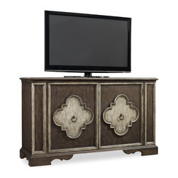 Hooker Furniture - Hooker Furniture Two-Door Console 5117-85001 - Two adjustable shelves behind each of the two doors with center partition