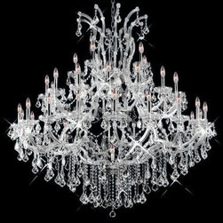 Elegant Lighting - Elegant Lighting 2800G52C/RC Chandelier from the Maria theresa Collection - Elegant Lighting 2800G52C/RC Maria theresa Chandelier