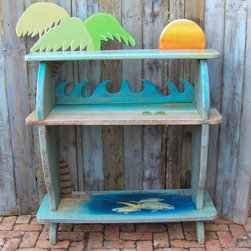 The Beachy Bar - Two chairs on the sand and yellowtail snapper under the water! Made from reclaimed cypress and suitable for outdoors