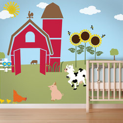 My Wonderful Walls - Friendly Farm Wall Mural Stencil Kit for Painting - - 30 individual farm animal wall stencils