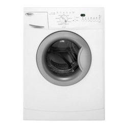 """Whirlpool - WFC7500VW 24"""" Front-Load Washer with 2 cu. ft. Capacity  11 Wash Cycles  4 Tempe - Help save water energy and money with this ENERGY STAR qualified and CEE Tier II rated washer This compact washer can be stacked with the compact dryer to conserve every inch of floor space if needed Automatic dispensers hold and release each additiv..."""