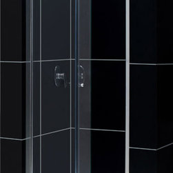 DreamLine - DreamLine SHDR-4536726-01 Butterfly 34 to 35 1/2in Frameless Bi-Fold Shower Door - The Butterfly collection of shower doors offers a beautiful frameless design paired with a space saving bi-fold action. The collection includes two models. One is perfect for a standard size shower space, while the other provides a great solution for a small bathroom renovation. The smart bi-fold action allows the panels to slide and fold creating an ample walk-in opening to maximize space. Wall profiles provide a flexible installation with adjustability for width and out-of-plumb walls. 34 - 35 1/2 in. W x 72 in. H ,  1/4 (6 mm) clear tempered glass,  Chrome hardware finish,  Frameless glass design,  Width installation adjustability: 34 - 35 1/2 in.,  Out-of-plumb installation adjustability: Up to 3/4 in. per side,  Space-saving frameless bi-fold door,  Anodized aluminum profiles and guide rails,  Door opening: 23 in.,  Reversible for right or left door opening installation,  Material: Tempered Glass, Aluminum