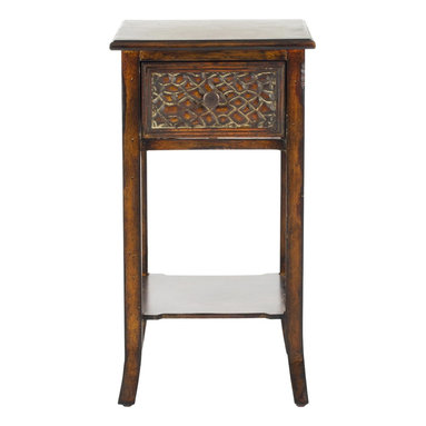 Safavieh - Ernest End Table - Enough can't be said for the importance of being earnest. And the solid birch construction and tactile decorative details of the Ernest end table offer a visual entree into a world where style and substance go hand in hand.