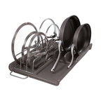 Slide Out Lid and Pan Organizer - This Lid & Pan organizer slides in and out of the cupboard, so you can avoid unsteady piles of cookware.