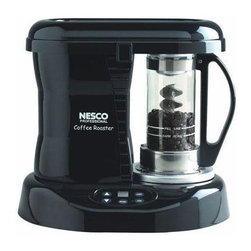 Metal Ware Corp. - Nesco Pro Coffee Bean Roaster - Nesco Professional Coffee Bean Roaster. The NESCO Pro Coffee Bean Roaster is a coffee enthusiast's dream, bringing the freshness and quality of roasting fresh gourmet coffee to your home. NESCO's Patented Catalytic Converter is the beginning of a new era in coffee history and a major step in the return of great tasting coffee to your home. Once you've experienced the flavor of fresh gourmet coffee roasted like this you'll want to share it with everyone you know. You'll be surprised to learn how fast and easy it is to roast your own specialty coffee beans right at home. Roaster creates an even roast and uniform color while controlling the roast from light to dark. It is fast and economical - roasts a batch of beans in less than 20 minutes at half the cost of store-bought. Craft Your Own Signature Coffee from Your Favorite Bean Combination, Achieve a Wide Range of Distinct Flavors. It's Fun and Easy. Roast up to 1/3 lb of Beans in only 20 to 30 Minutes, that's enough for 36 cups of Coffee. FEATURES: Advanced Patented Catalytic Technology Significantly Reduces Smoke and Odor.  Underwriters Laboratories Listed.  800 Watts.