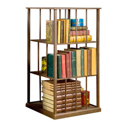 BoBo's Intriguing Objects - Wright Turning Bookcase - The book lover in you is bound to be taken with this handsome piece, the ultimate addition to your personal library. The sleek and strong iron case rotates 360 degrees, ideal for cross-referencing without leaving your chair.
