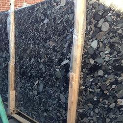 Royal Stone & Tile Slab Yard in Los Angeles - Black Mosaic Gold Granite/ Marinace Granite Kitchen