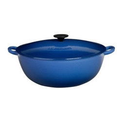Le Creuset Enameled Cast Iron 7.5 qt. Bouillabaisse Pot, Cobalt Blue - I love Le Creuset for its beauty. Their products are pretty enough to sit out on display and practical enough to make some of your best dishes.