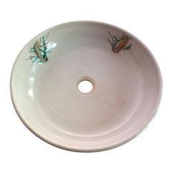 rika blue pottery - Seahorse Vessel Sink - Seahorse Vessel Sink Pottery