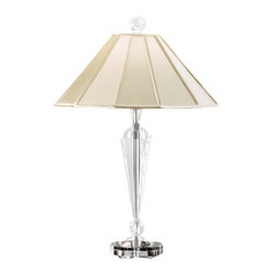 Schonbek Lighting - Schonbek Lighting 10502N-40 Rock Polished Silver Table Lamp - 1 Bulb, Bulb Type: 100 Watt G9 Halogen, Bulb Included; Product made-to-order, 6-8 week lead time