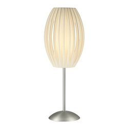 Lite Source - Lite Source LS-2875SS/WHT Egg Table Lamp - Lite Source LS-2875SS/WHT Egg Table Lamp