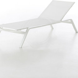 Modern Reclining Outdoor Chaise Lounge Chair - Stackable - Gandia Blasco Stack - Looking for modern reclining outdoor chaise lounge chairs with a clean contemporary design?  Check out these new stackable outdoor chaises designed by Spanish designer Borja Garcia and available in the US through Stardust.