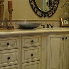 Mediterranean Bathroom Vanities And Sink Consoles by Custom Homes by Miller