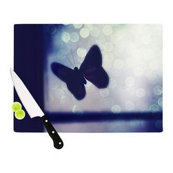 """Kess InHouse - Robin Dickinson """"Enchanted"""" Lavender Butterfly Cutting Board (11.5"""" x 15.75"""") - These sturdy tempered glass cutting boards will make everything you chop look like a Dutch painting. Perfect the art of cooking with your KESS InHouse unique art cutting board. Go for patterns or painted, either way this non-skid, dishwasher safe cutting board is perfect for preparing any artistic dinner or serving. Cut, chop, serve or frame, all of these unique cutting boards are gorgeous."""