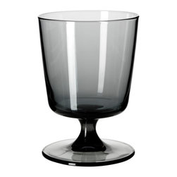 Bedårande White Wine Glass - At my house, my family loves short-stemmed or stemless glasses for wine. These squatty little guys are easy to store and tough to knock over. And the smoky gray is just gorgeous.