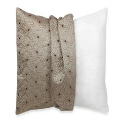 Spencer N. Enterprises - Geranium 20-Inch Decorative Toss Pillow Cover in Green - Transform any toss pillow into a new and stylish one with this easy to use decorative toss pillow cover, featuring a faux silk fabric with a timeless quilted floral design in green and brown.