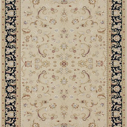 Loloi Rugs - Loloi Rugs WELBWL-03BEBL2877 Welbourne Beige-Black Traditional Border Rug - The Welbourne Collection features a more traditional design with up-to-date colors and styles. Most notably, its densely woven construction contributes to the superior quality of this new power-loomed collection. There is a variety of sizes and color combinations available.