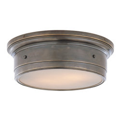 Siena Large Flushmount Light - A flushmount fixture is a great lighting choice for your bedroom or even a hallway. It adds a soft glow of constant light while complementing a traditional or contemporary design aesthetic. Just choose between antique nickel or bronze hardware and watch how easily two 60-watt bulbs will fill your space with flattering light.