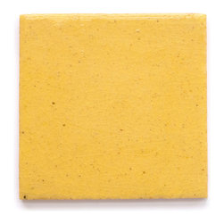13 Yellow Crackle (Glossy and Crackle Finish) - Handmade Ceramic Tile - Handmade Ceramic Tile