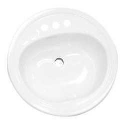 "BOOTZ INDUSTRIES - Laurel 19"" Round Sink White 6 Pack - The Laurel 19"" round lavatory has a durable porcelain surface that is easy to clean and maintain"