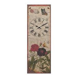 IMAX CORPORATION - Ellison Metal Wall Clock - Letter writing may be a lost art, but the Ellison metal wall clock depicts handwritten notes collaged with beautifully illustrated botanicals, enhanced with antiqued metal framing. Find home furnishings, decor, and accessories from Posh Urban Furnishings. Beautiful, stylish furniture and decor that will brighten your home instantly. Shop modern, traditional, vintage, and world designs.