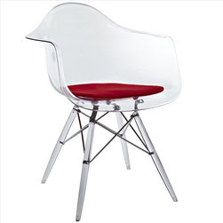 Modway - Pyramid Dining Armchair in Red - EEI-221-RED - Pyramid Collection ArmChair