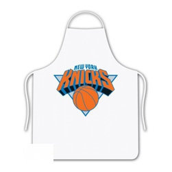 Sports Coverage - NBA New York Knicks Tailgate Apron - Show your NBA team spirit with this screen printed New York Knicks Tailgate Apron from Sports Coverage Inc! Keep yourself clean while supporting your team with this Apron. The 100% cotton twill apron is boldly emblazoned with the team logo.     Features:  -  100% cotton ,   -  One size fits most,   -  Team logo in the center,   -  Screen printed logo.,